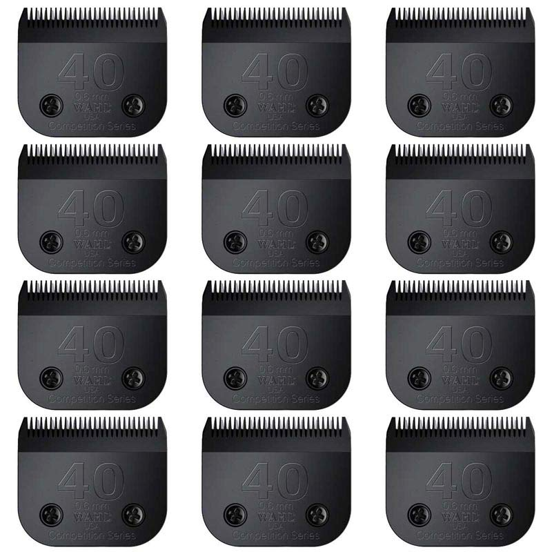 Wahl 12 Pack of #40 Ultimate Competition Blades - 0.6 mm