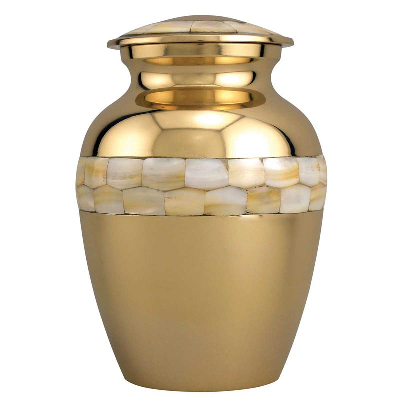 Medium Pet Urn with Mother of Pearl