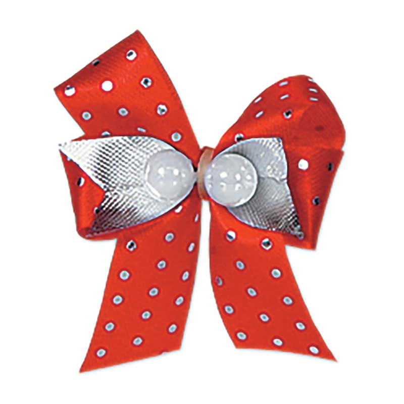 Fancy Finishes Premium Bows Dots wit Two Beads