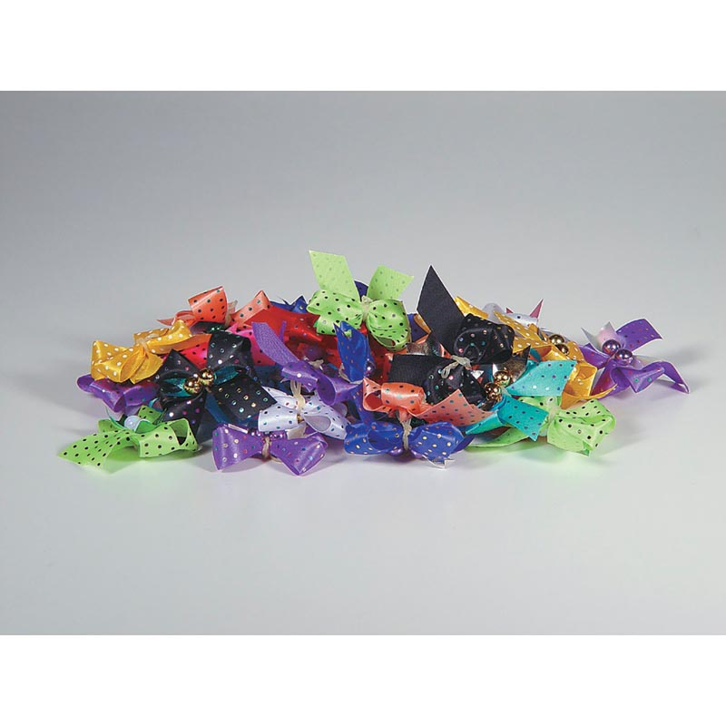 Package of 50 Fancy Finishes Premium Bows Dots