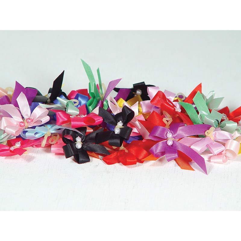 Package of 50 Fancy Finishes Premium Bows Petite & Delicate