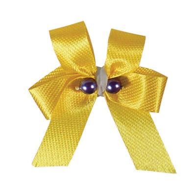 Fancy Finishes Premium Bows Petite & Delicate with Two Beads