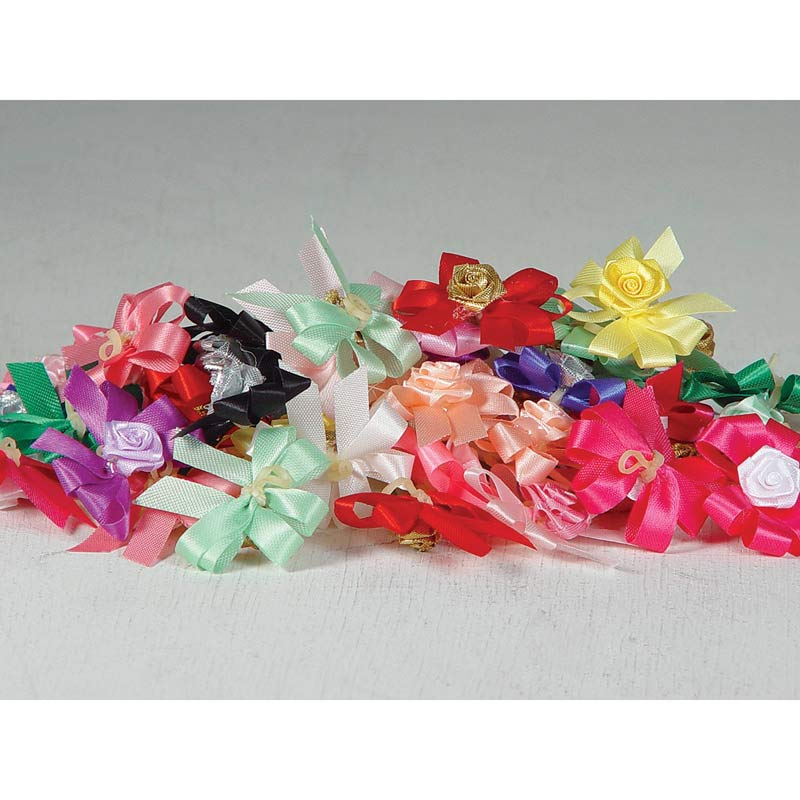 Package of 50 Fancy Finishes Premium Bows Simply Elegant