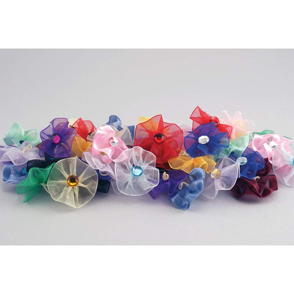Package of 50 Fancy Finishes Premium Bows Gem Rings