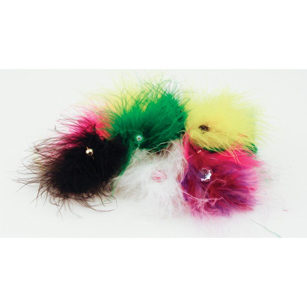 Package of 24 Fancy Finishes Premium Bows Fancy Feathers