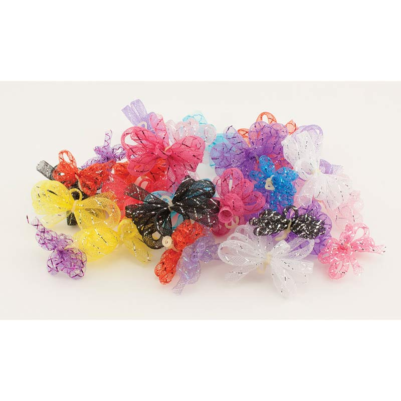 Package of 38 Fancy Finishes Premium Bows - E-Loops
