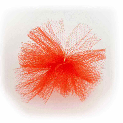 Red Fancy Finishes Tulle Puff Grooming Bow