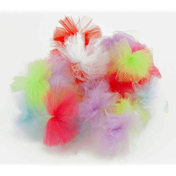 Assorted Fancy Finishes Tulle Puff Grooming Bows 20 Count