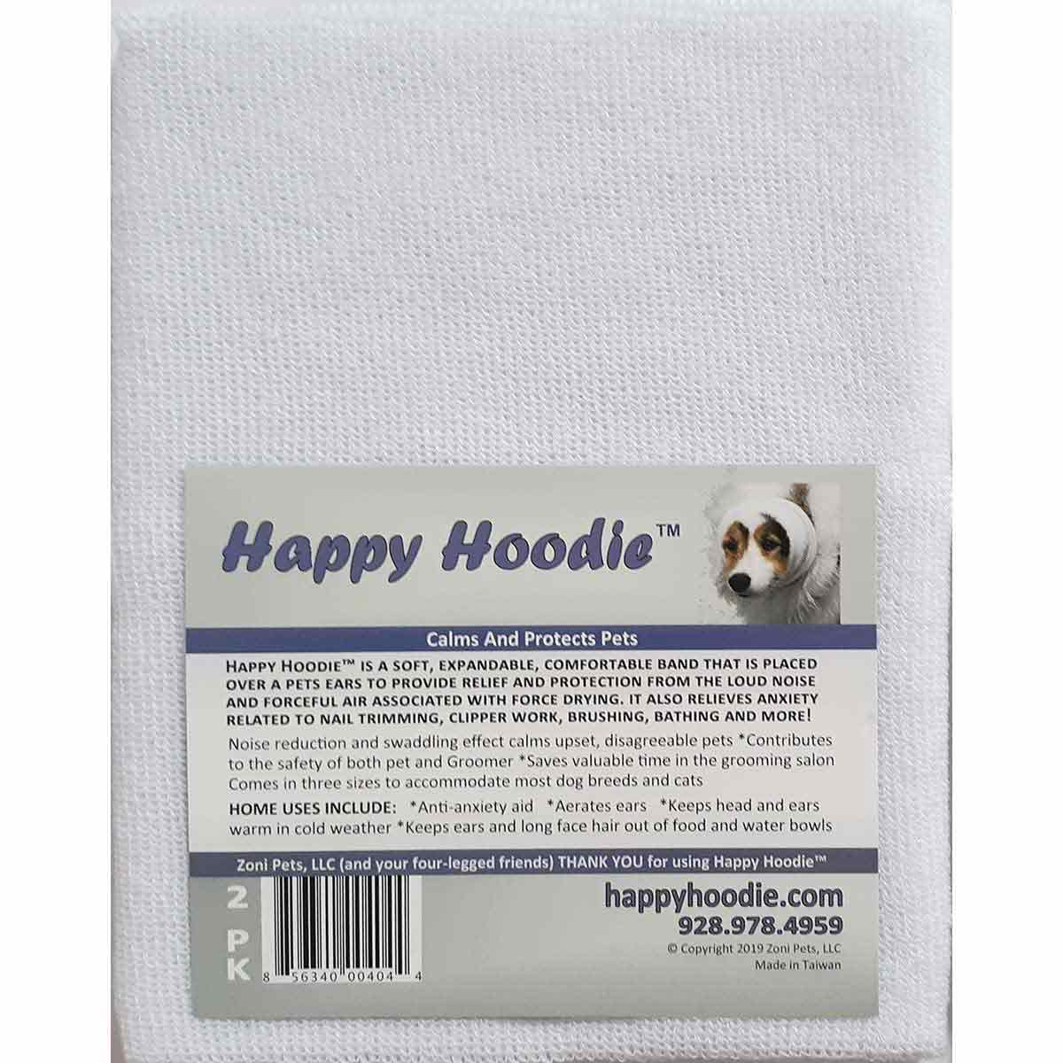 White Happy Hoodie 2 Pack