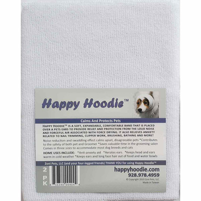 White Happy Hoodie 2 Pack for Dog Grooming
