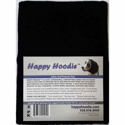 Black Happy Hoodie 2 Pack for grooming Dogs