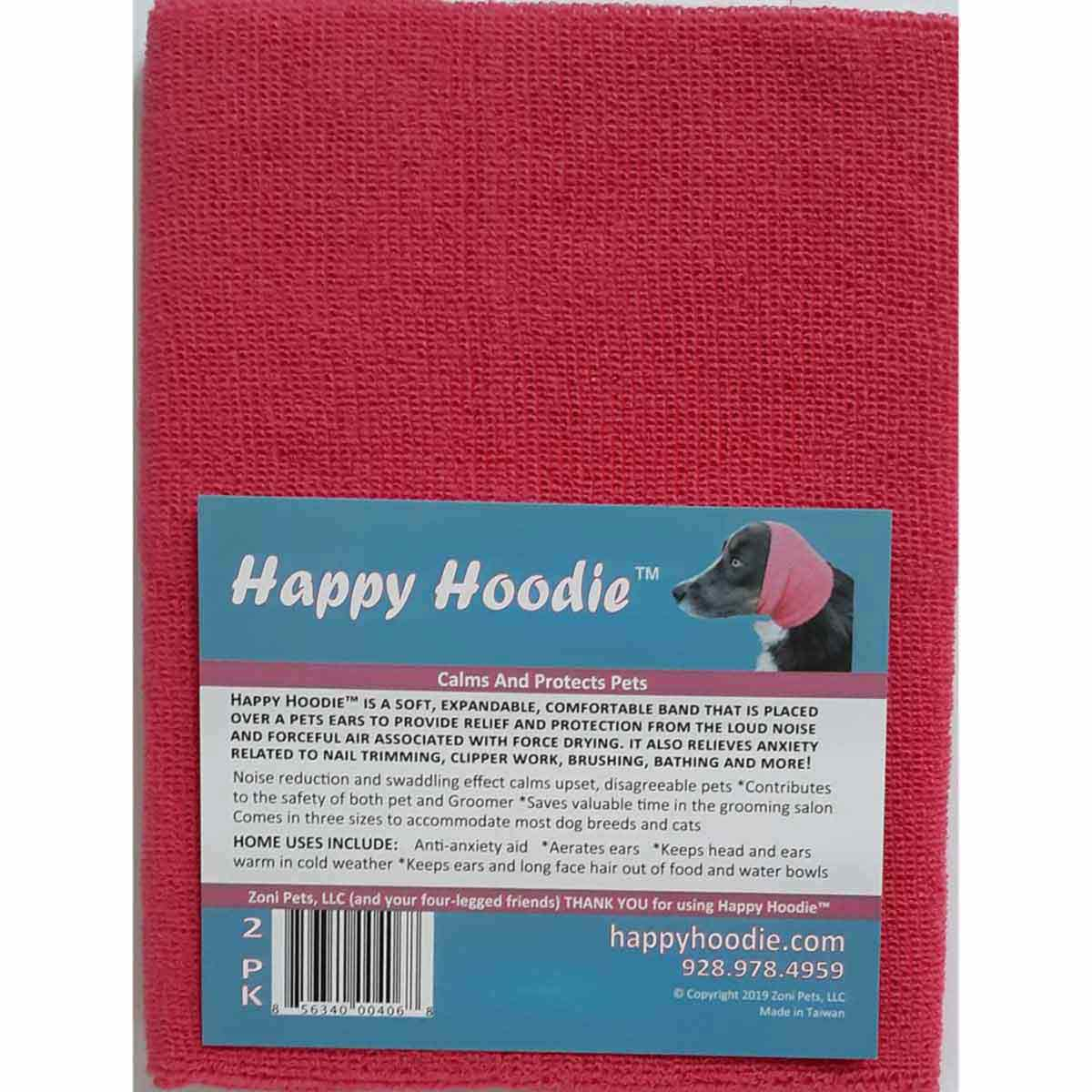 2 Pack of Pink Happy Hoodie has 1 Small & 1 Large