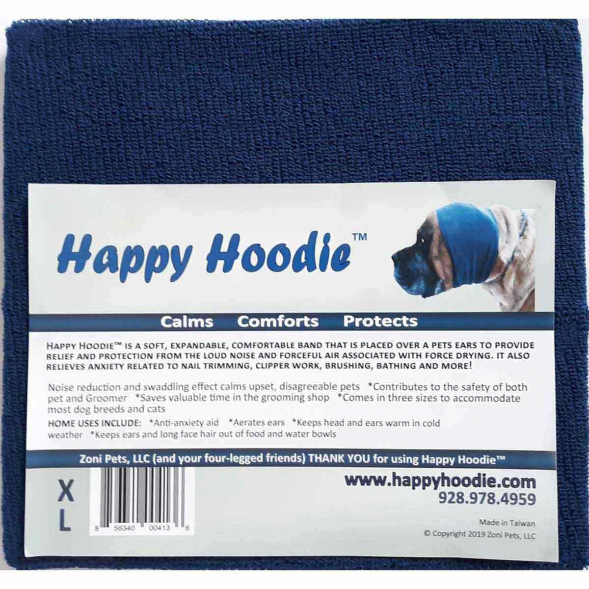 Happy Hoodie - Navy XL to keep Pets calm during Grooming available at Ryan's Pet Supplies