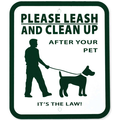 Pet Waste Station Signs Says Please Leash And Clean Up After Your Pet