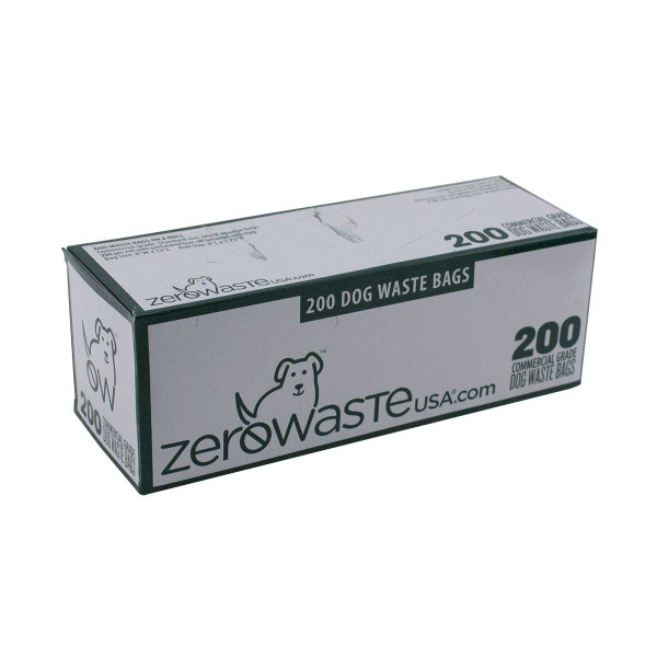 Zero Waste Roll Bags for Dog Waste Removal 200 Count