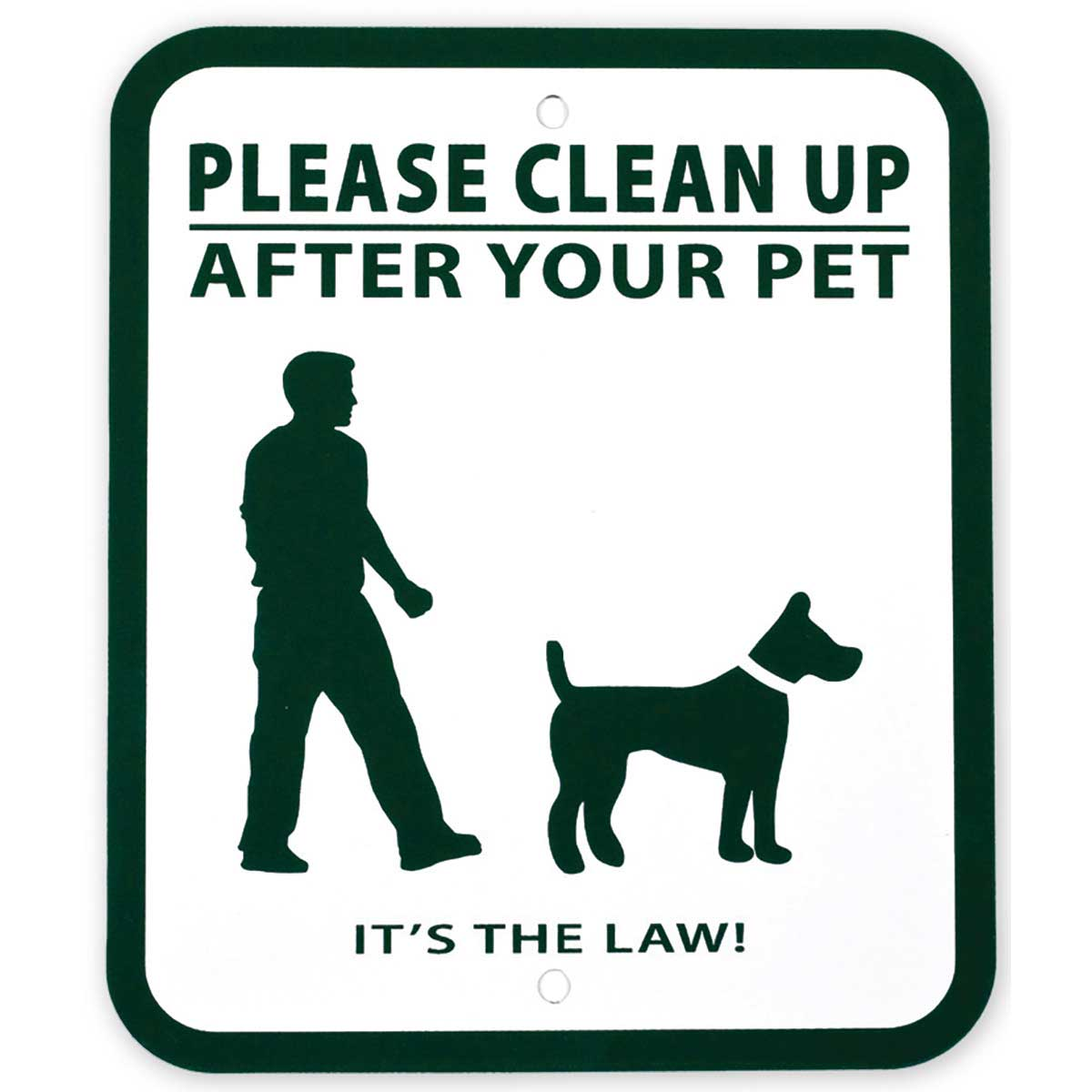 Pet Waste Station Signs Says Please Clean After Your Pet - It's the Law!
