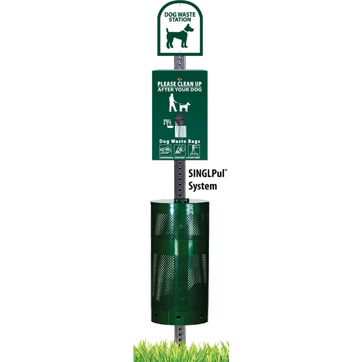 Green Sentry Singpul Dog Waste Bag Dispenser Station